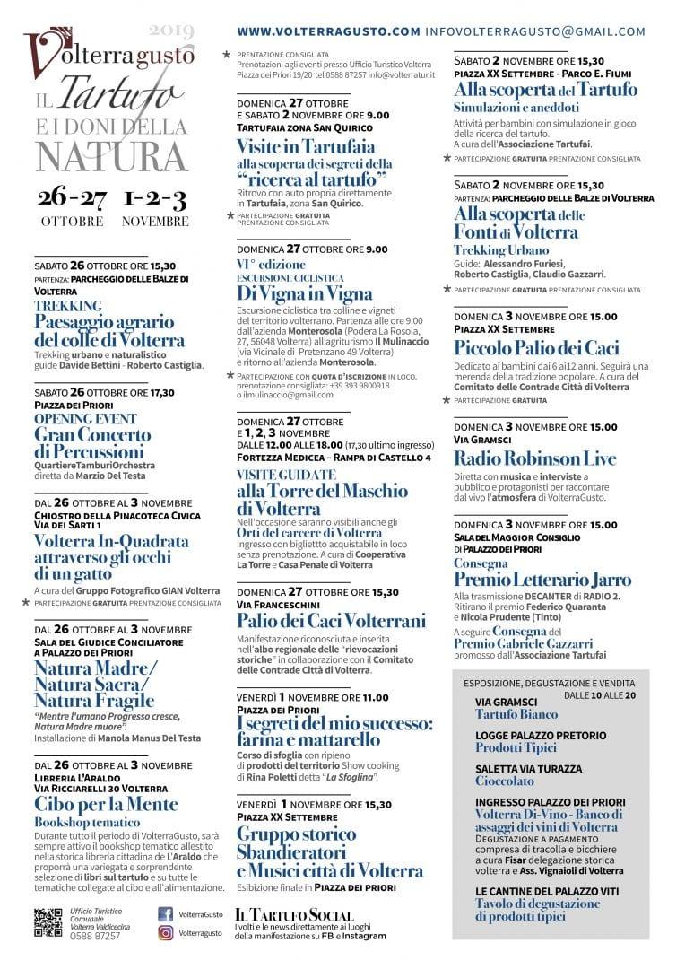 Il tartufo a Volterra: VolterraGusto 2019